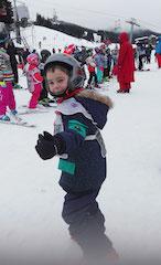 cousin Gab est super content de reprendre des cours de ski