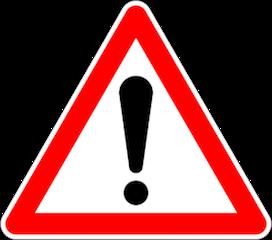 panneau Attention