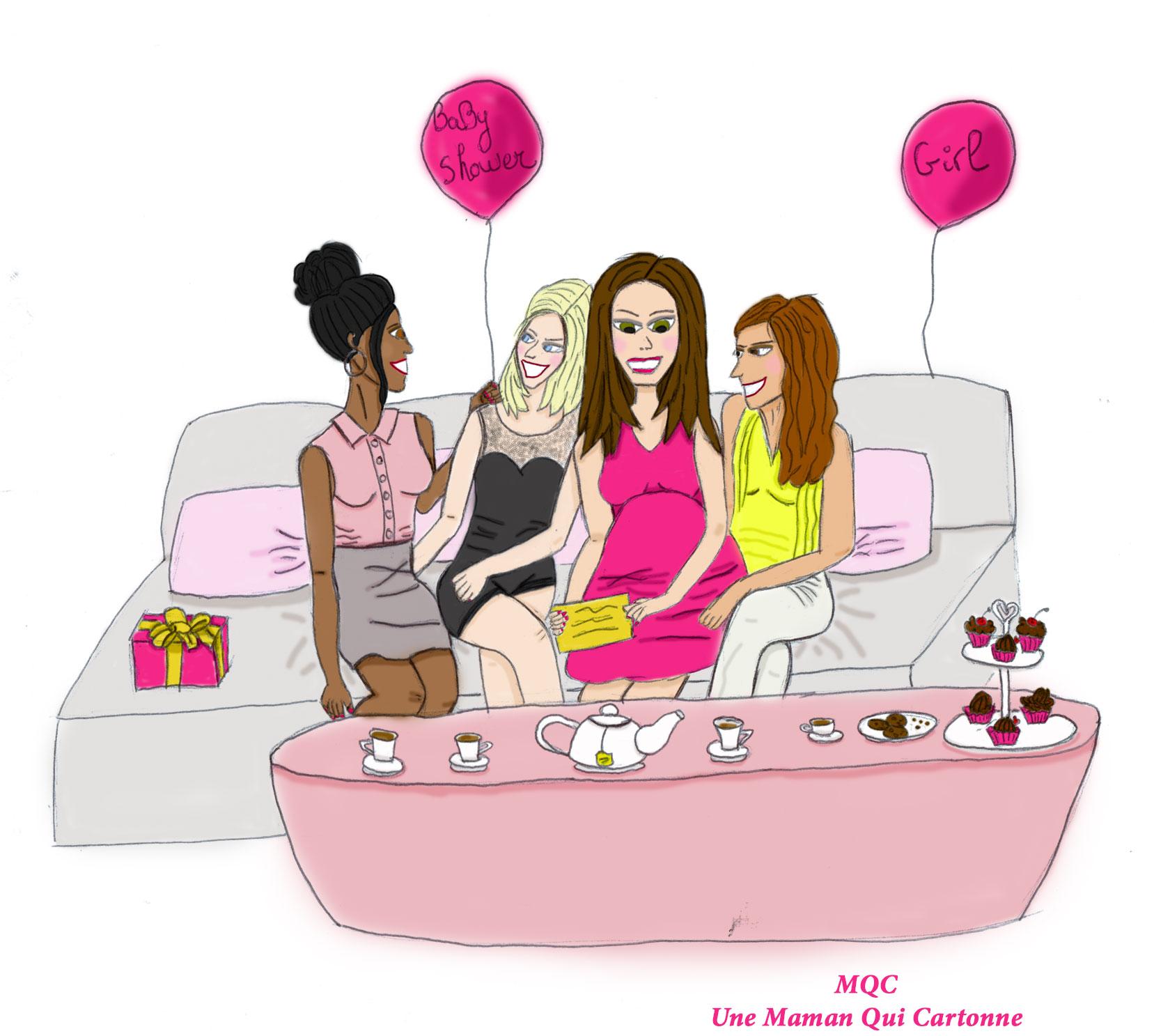Baby shower fête entre filles