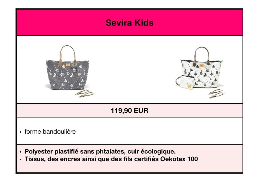 Sevira Kids sacs à langer éco cuir