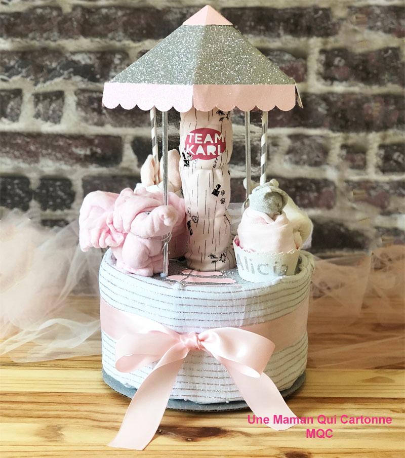 gâteau de couches carrousel - Alicia 1