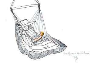 chaise hamac tropilex - siroter un verre - unemamanquicartonne