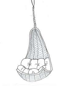 fauteuil suspendu - unemamanquicartonne