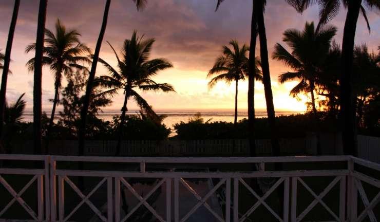 coucher de soleil- trou d'eau, la Réunion