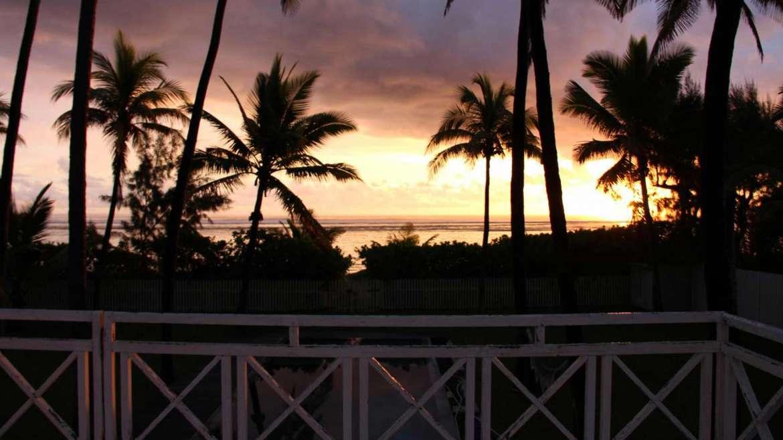 coucher de soleil-trou-d'eau, Réunion