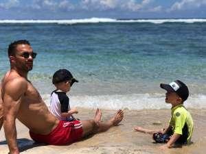 plages-instant père/fils-ile de la reunion