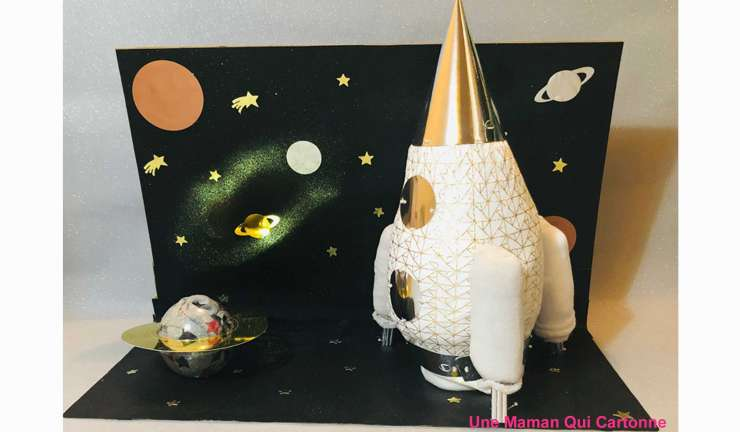 Rocket diaper cake Isaya
