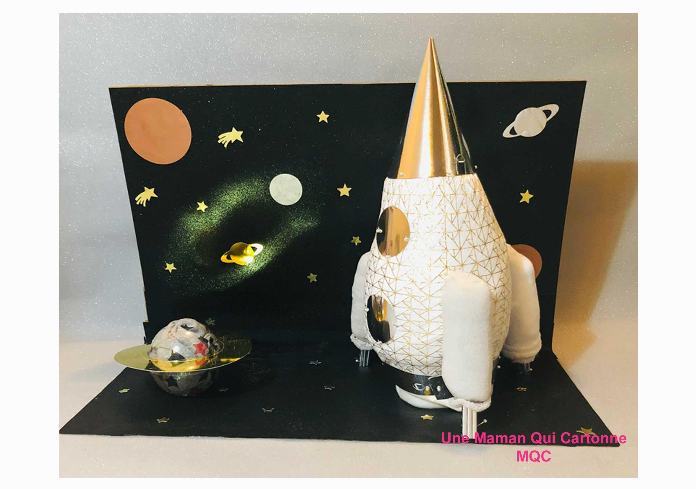 fusée gâteau de couches - isaya - unemamanquicartonne
