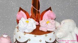fleurs de langes- diaper cake unicorn-unemamanquicartonne