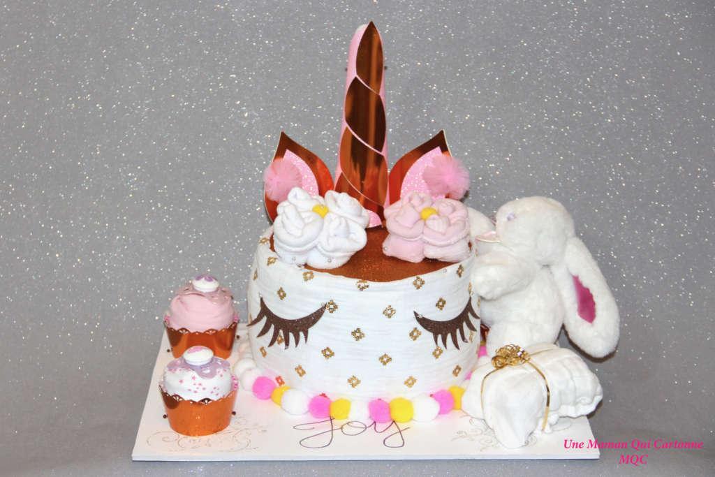 unicorn diaper cake - unemamanquicartonne