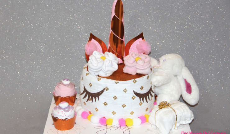 Unicorn diaper cake Joy