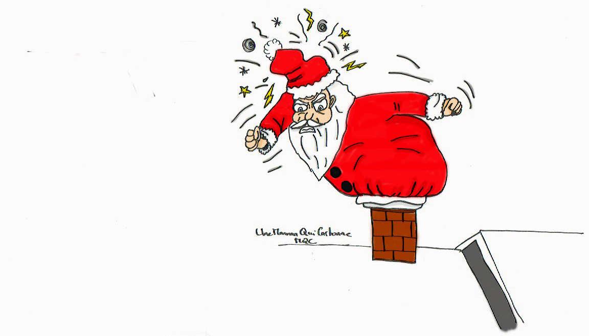 cheminée trop étroite pour le père Noël